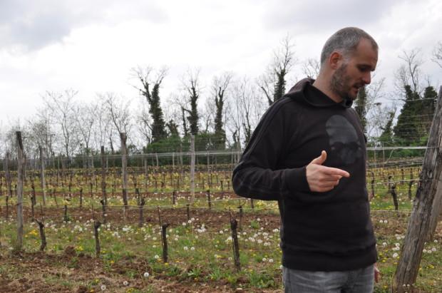 Simone Secchi explaining their farming