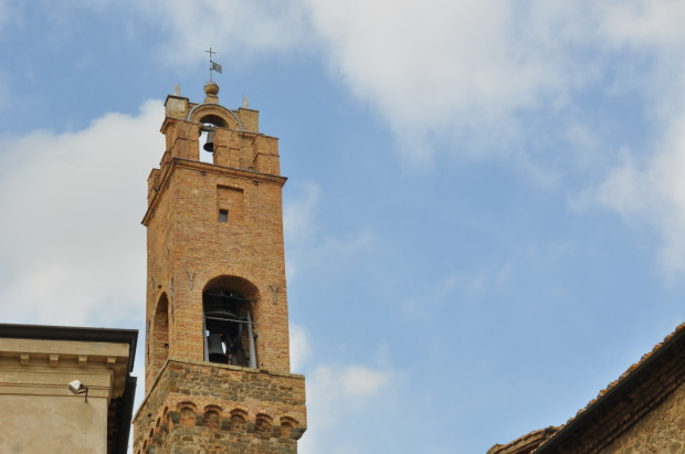 the bell tower of Montalcino