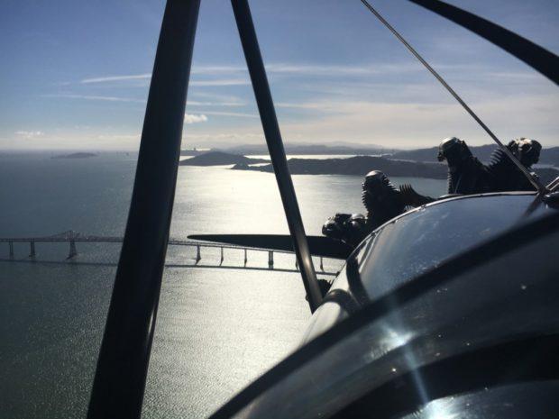 over the San Francisco Bay