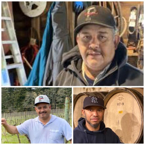 Jose, Javier, Julio from Eyrie Vineyards
