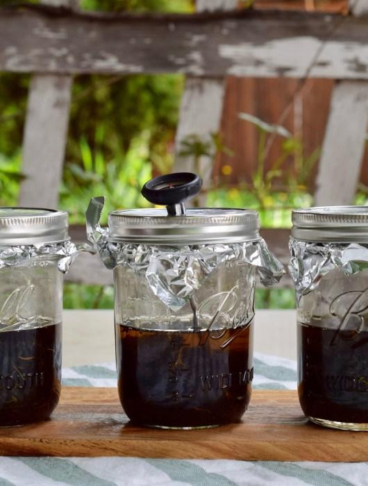 infusing cannabis mason jar coconut oil