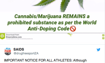 South African Sports Body Warns Via Twitter Athletes Will Be Banned For Using Cannabis