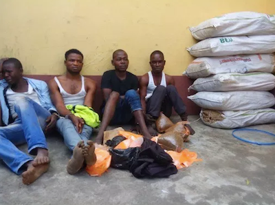 """Only In Nigeria. Men Celebrate Self Appointed """"Indian Hemp Day"""" By Breaking Into A Mosque To Smoke"""