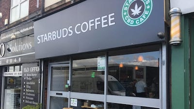 Starbucks Won't Let This Last Long: Starbuds cannabis coffee shop opens its doors in the UK