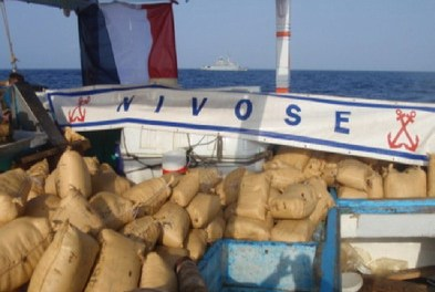 French Warship FS Nivose seizes 2.5 tonnes hashish in the Arabian Sea