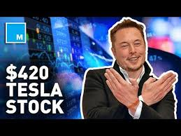 Tesla stock hits $420, Elon Musk makes a weed joke