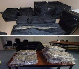 Canada RCMP and Akwesasne Police seize  300 pounds of marijuana