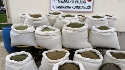 Over 800 kg of marijuana seized in SE Turkey