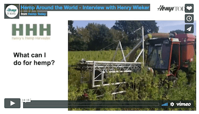 Podcast: Hemp farming in Germany, and a review of harvesting technology