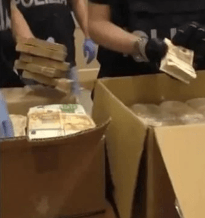 Italian police find €15 million in hash smuggling proceeds stashed inside a wall