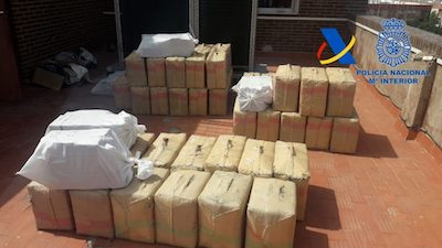 SPANISH POLICE CHASE ENDS WITH ARREST OF SUSPECTED DRUG SMUGGLER AND 4,000 POUNDS OF HASHISH