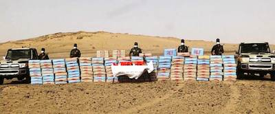 SPLA dismantles network and seizes 3775 kg of hashish from Morocco