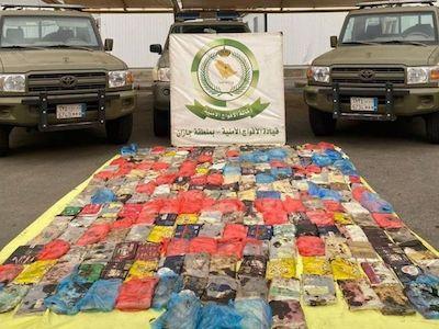 Saudi Arabia: 229kg of hashish, hidden in barley bags, seized in Jazan