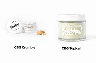Press Release: Goodekind Releases Affordable CBG Topical & CBG Crumble