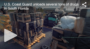 Coast Guard unloads several tons of seized cocaine and marijuana in Fort Lauderdale