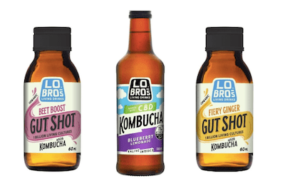 Lo Bros launches CBD kombucha and gut shots in UK