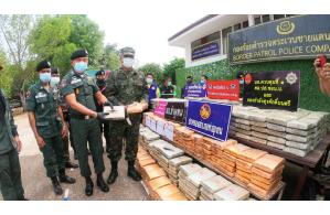 Thai Police seize 920 kilograms of cannabis smuggled across the Mekong River