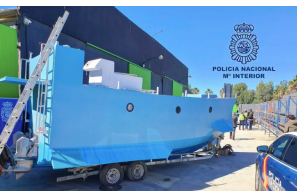 Spanish police seize home-made submarine able to carry two tonnes of drugs
