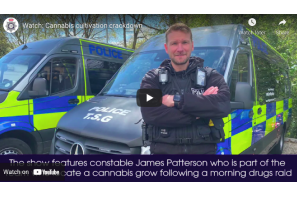 UK: Video shows £500000 Nottingham cannabis discovery