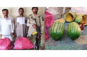 Pakistan: Bid to smuggle hashish  hidden in watermelons foiled