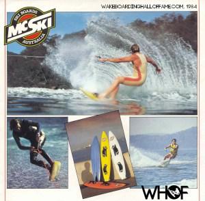 McSki Surf Ski 1st production skimboard wakeboard Bruce McKee