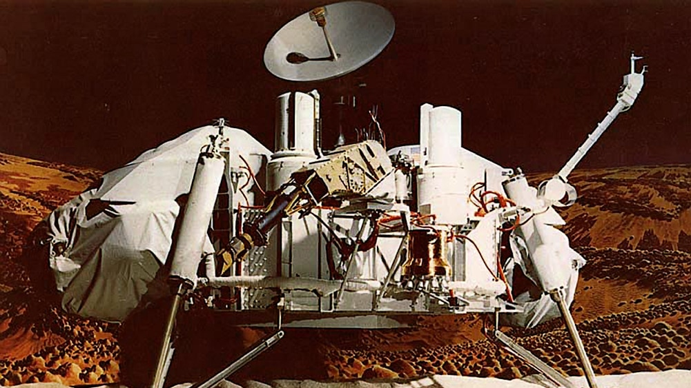 An image of NASA's Viking 1 Mars Lander