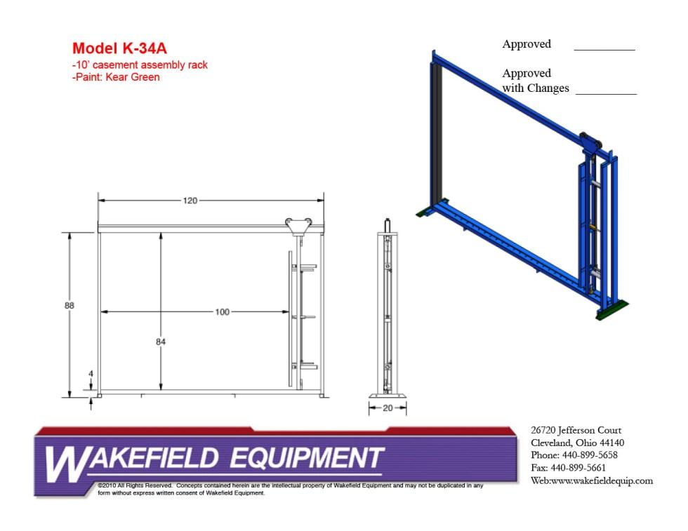 Casement Assembly Rack CAD