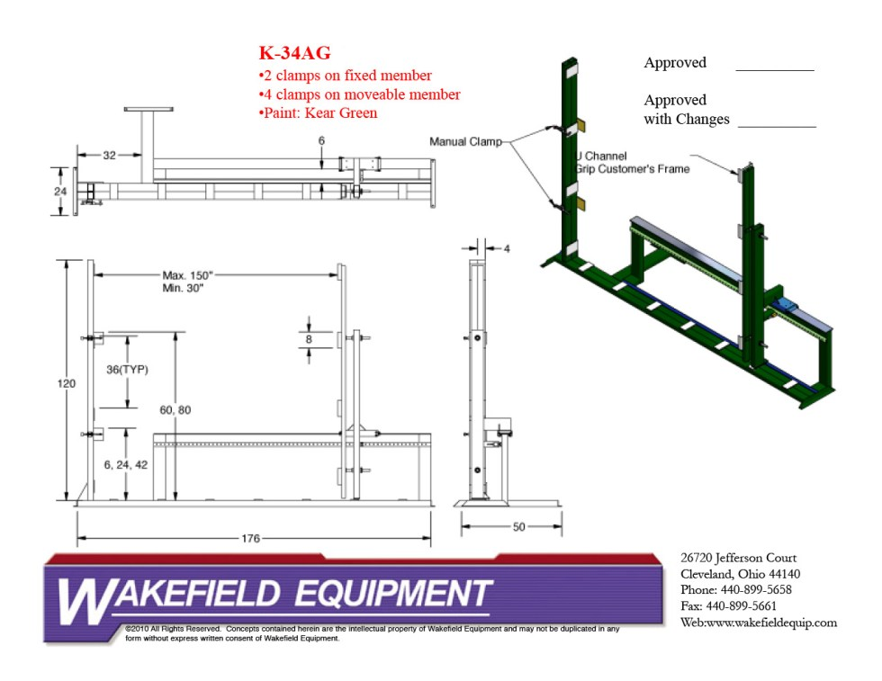 Casement Assembly Rack With Clamps