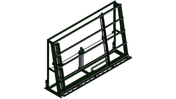 Glazing Rack with 90º Tilt