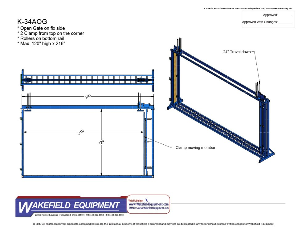 Jumbo Squaring Rack With Top Clamps CAD