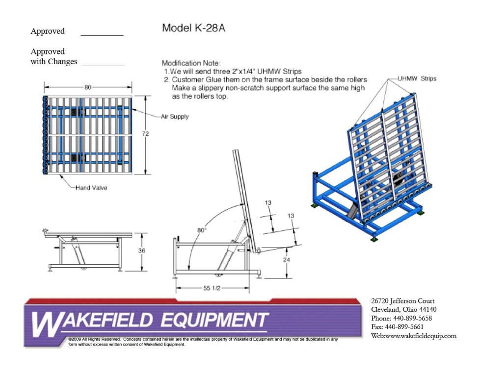 Pneumatic Tilt Table – Rollers CAD
