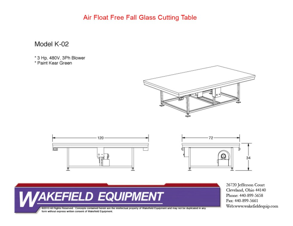 Air Float Free Fall Table CAD2