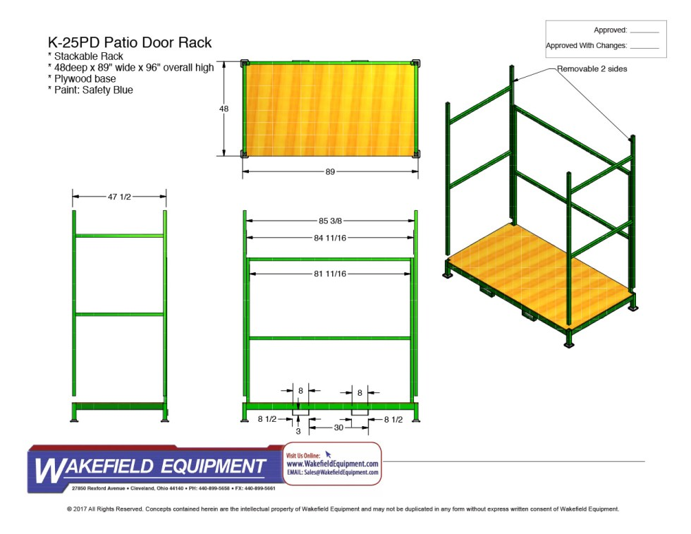 Patio Door Storage Rack 01 CAD