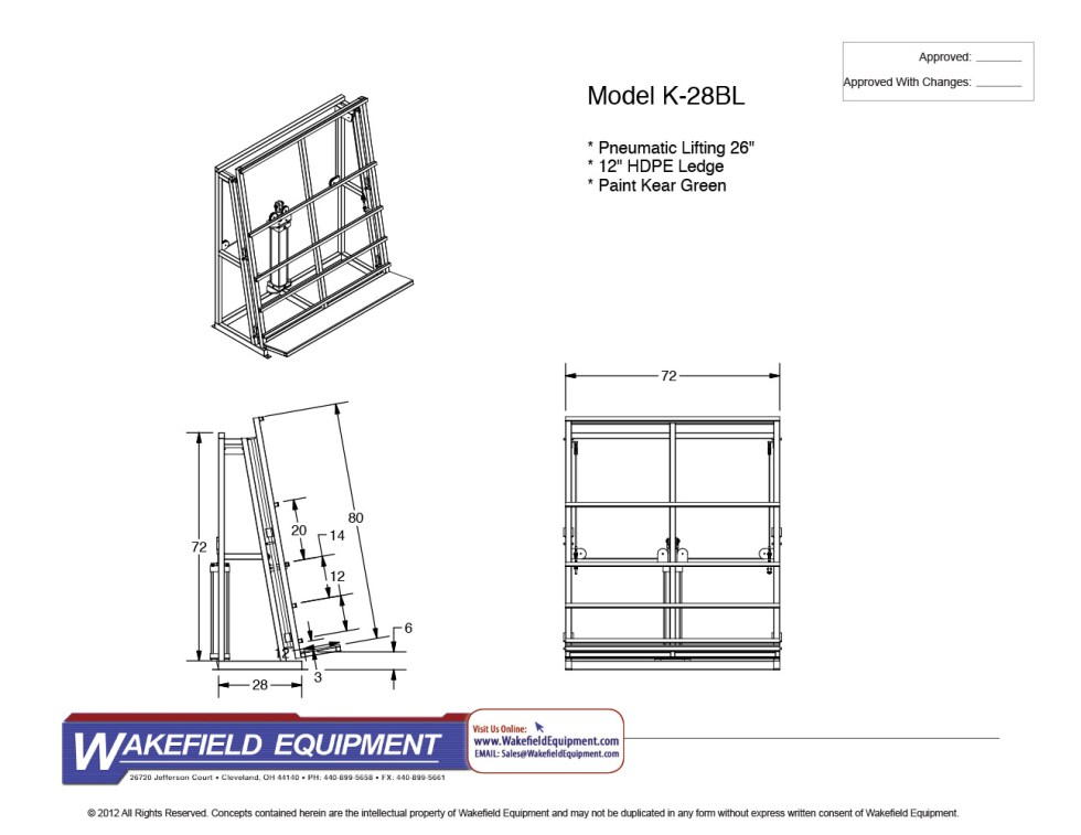 Vertical Transfer Conveyor W: Lift And HDPE Ledge