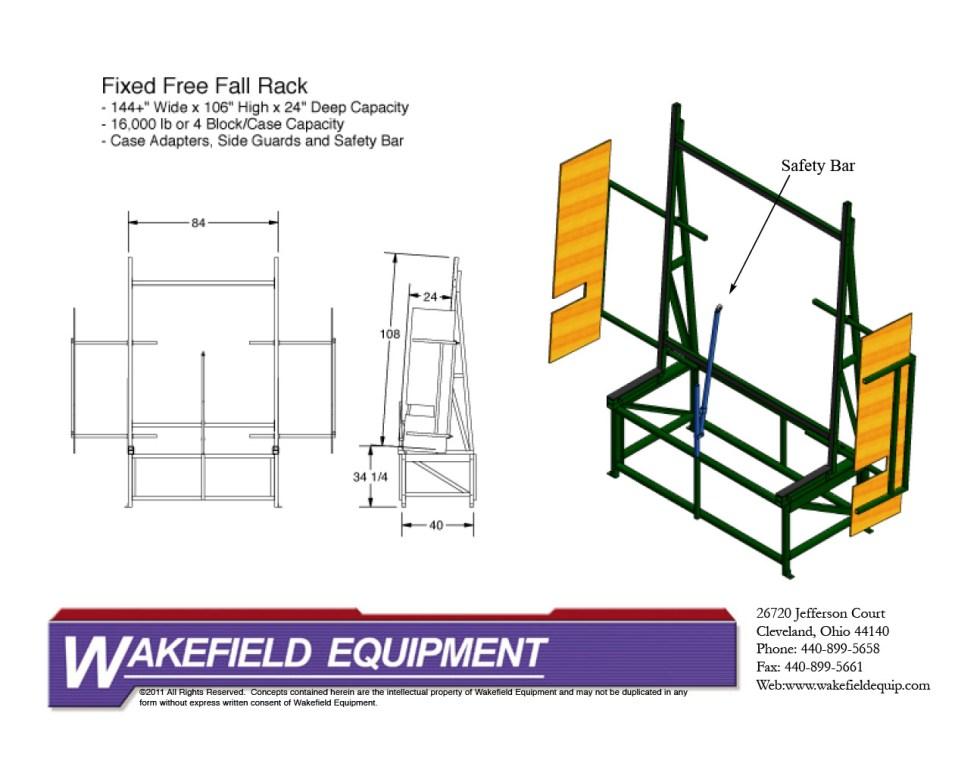 Fixed Free Fall Rack CAD