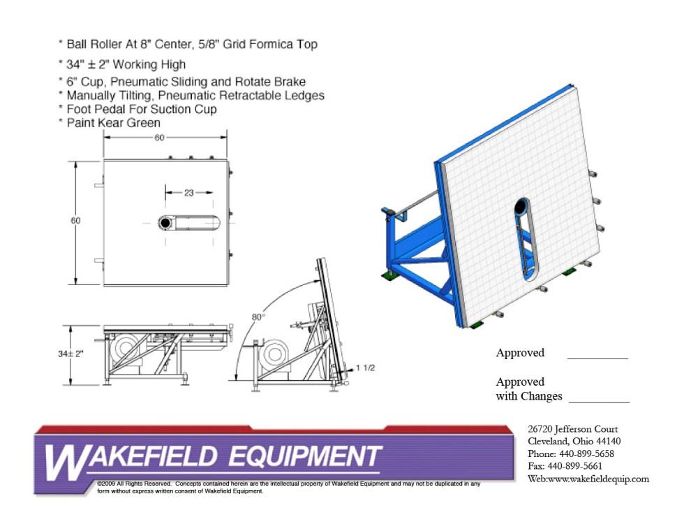 Flexible Spacer Application Table