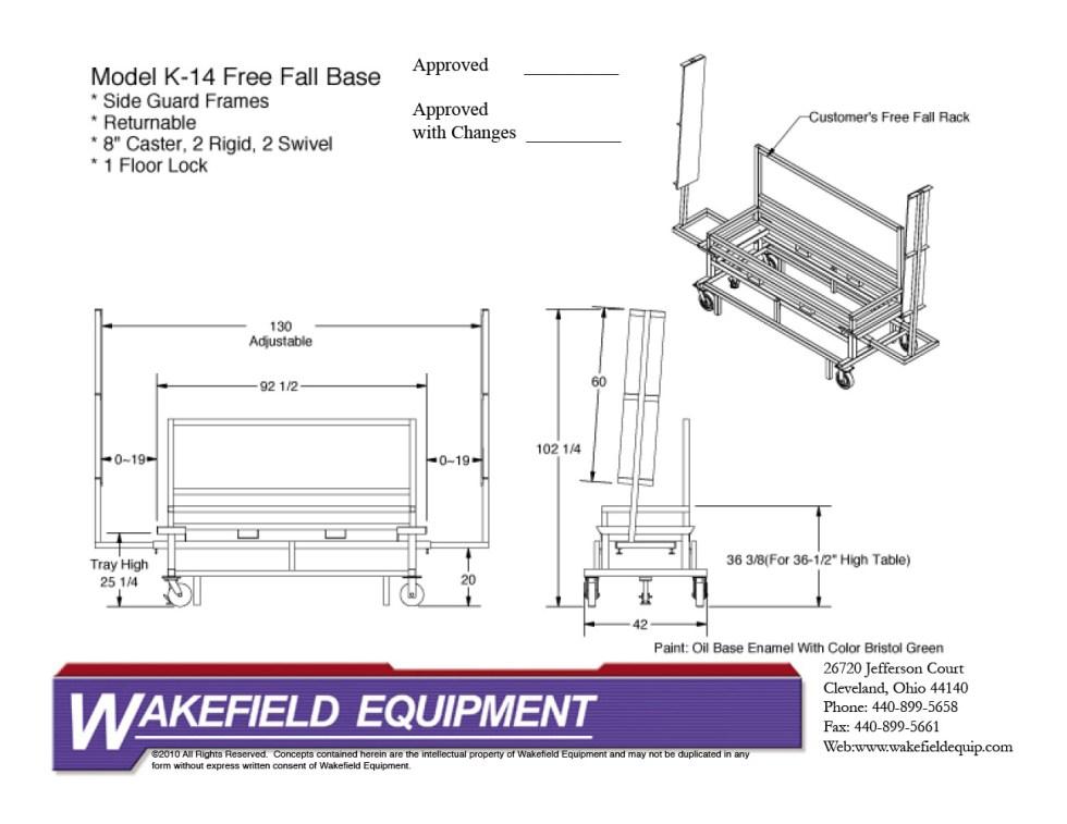 Free Fall Base W: SideGuards CAD