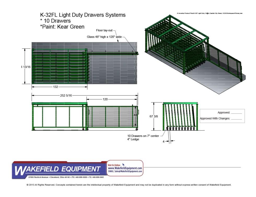 Glass Drawer Storage System 10 Drawers
