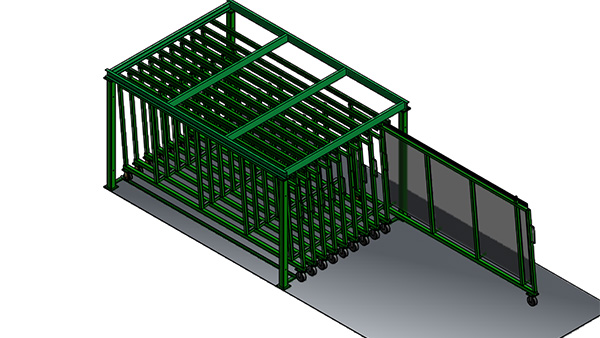 Glass Drawer Storage System