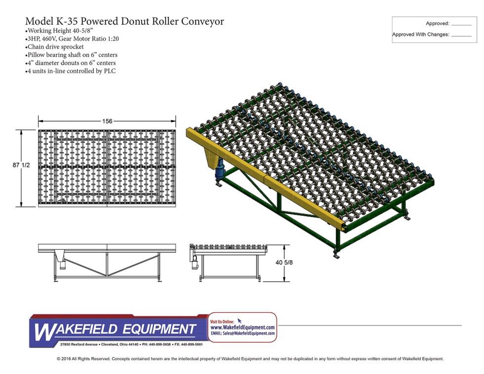 K 35 Powered Donut Roller Conveyor