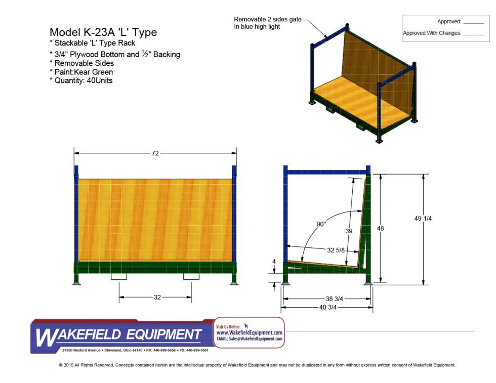 L Type Glass Shipping & Storage Rack