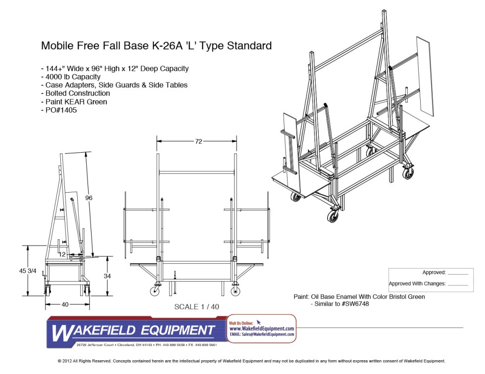 Mobile Free Fall Rack CAD