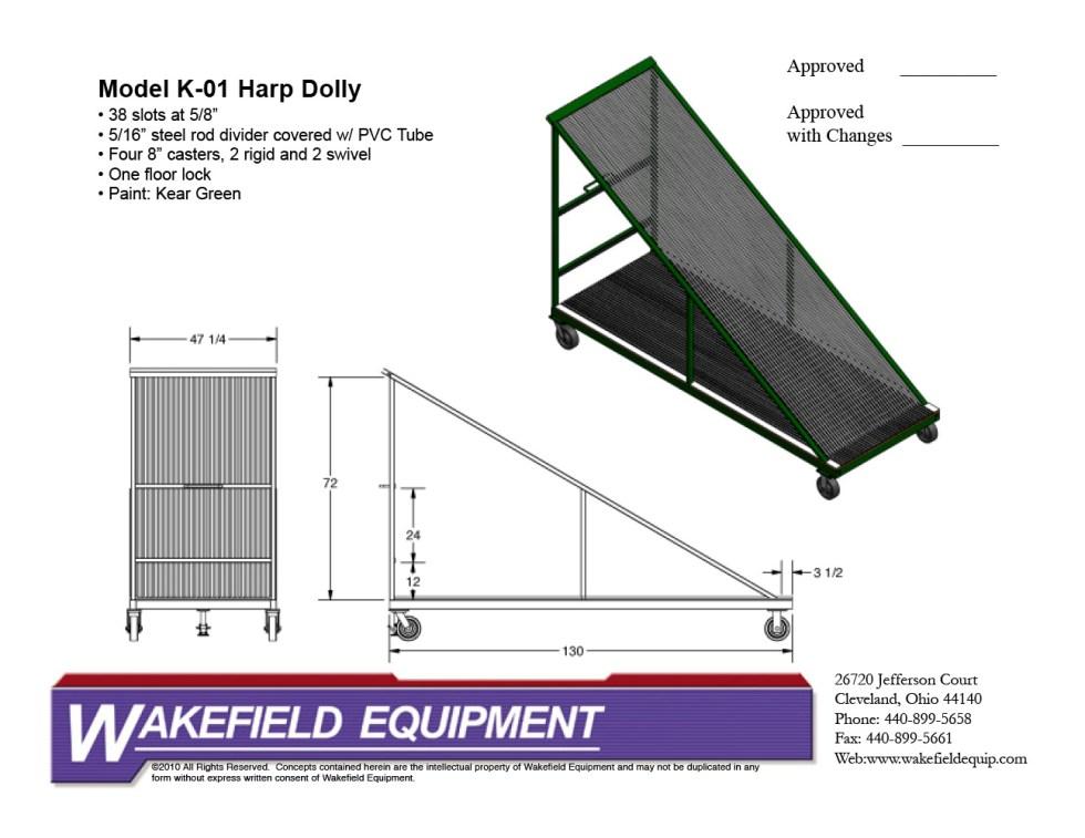 Oversized Harp Rack With Full Base