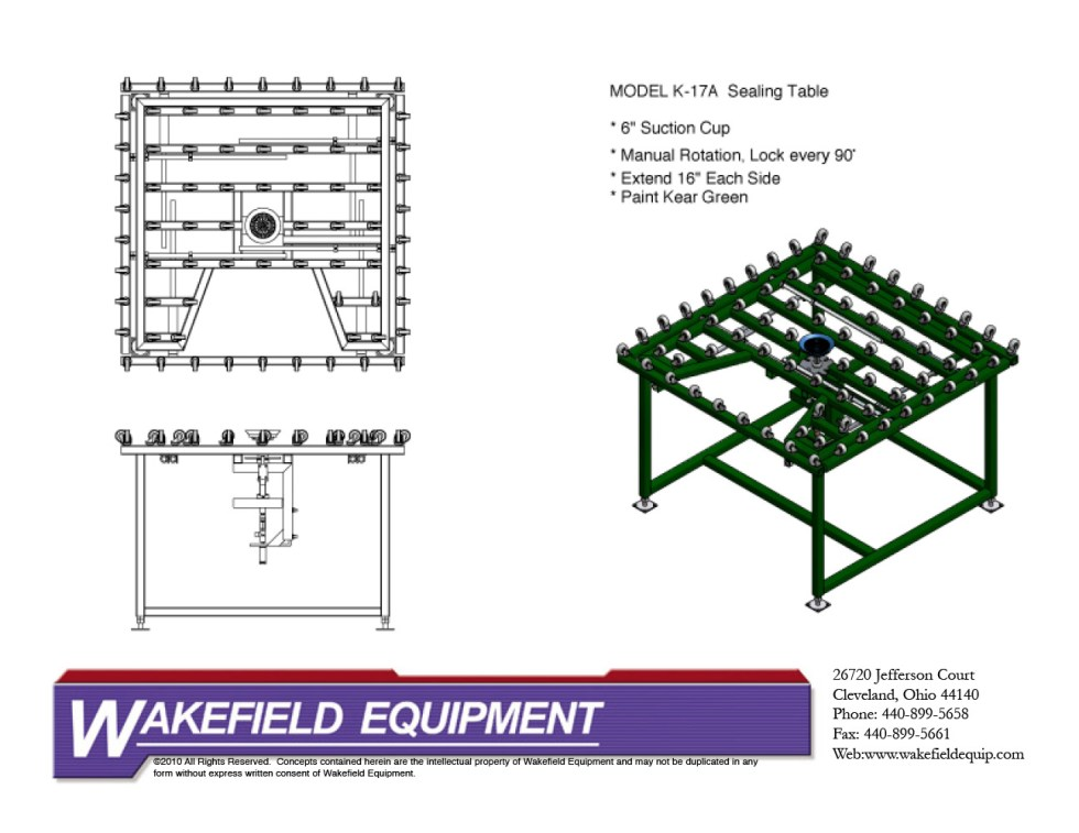Sealing Table Casters CAD