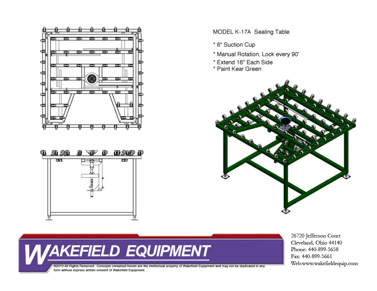 Caster Sealing Tables Wakefield Equipment