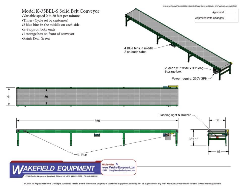 Automated Belt Conveyor CAD