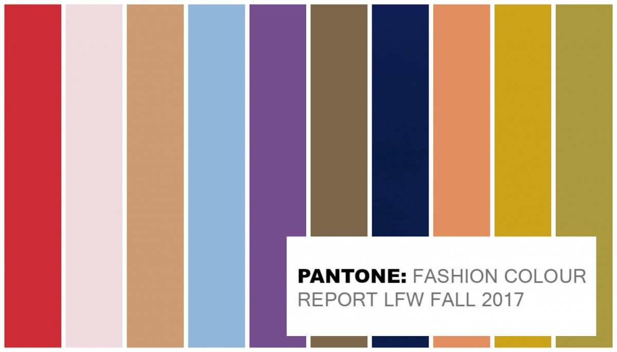 Pantone Official Colours For London Fashion Week Fall