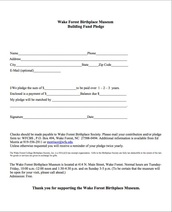 Pledge Form