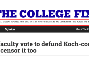 The College Fix: Wake Forest Faculty Vote to Defund Koch-Connected Center