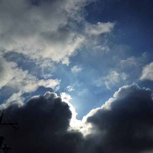 不穏な空 #sky #iphonography #instagram #iphone4s
